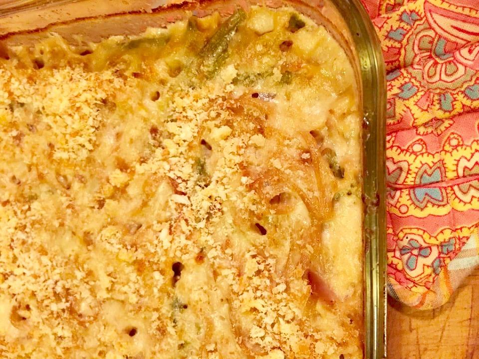 Asparagus Turkey Tetrazzini from Alexandersmom.com