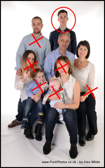 Final Face needed to complete a beautiful family portrait by Horsham Portrait Photographer