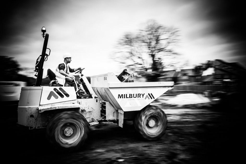 Commercial photos taken for Milbury construction company