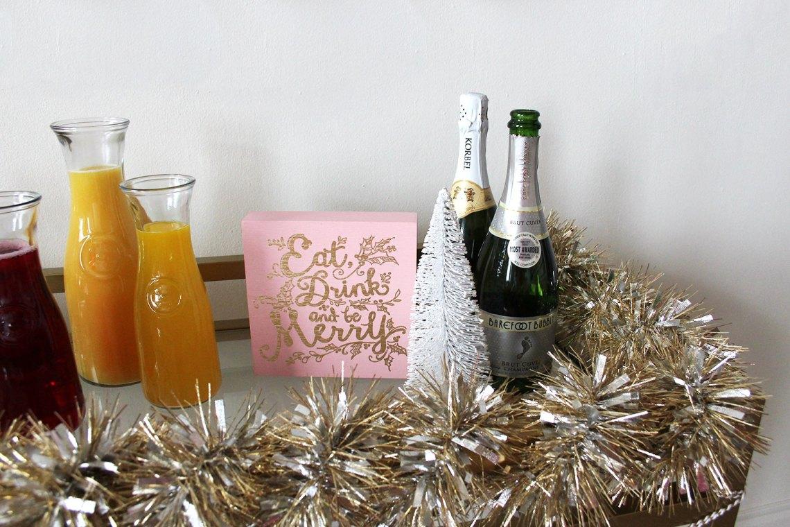 Christmas Morning Mimosa Bar Cart | Alexandra Adams