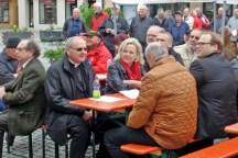 DGB-Kundgebung zum 1. Mai in Höchstadt: mit Dekan Kilian Kemmer.