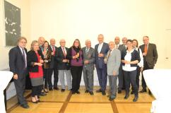 Bei der Verleihung des Bundesverdienstkreuzes