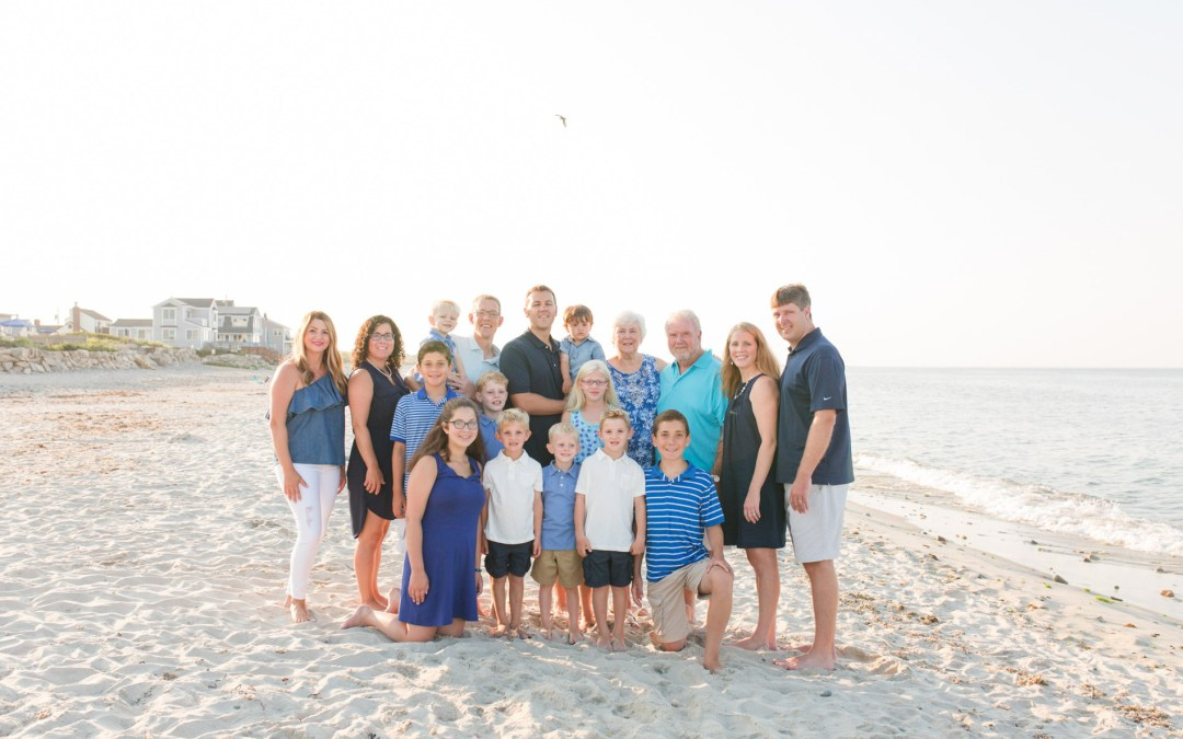 Rexhame Beach Extended Family Session | Marshfield, MA