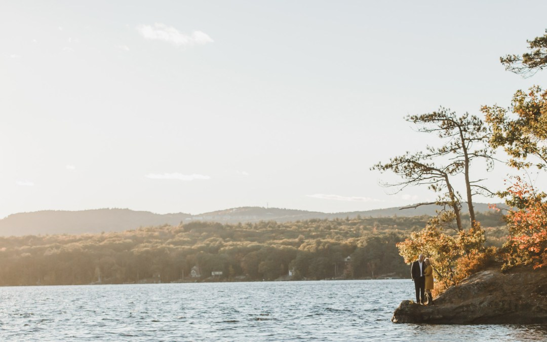 Samantha and Buddy // Engagement Session | Ahern State Park, Laconia, NH
