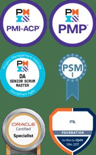 Certificações - PMP, PSM, Oracle, ITIL