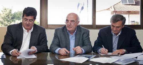 Σπυρίδων Κολοβός (Α), Φώτης Δημητριάδης (Κ) και Γιώργος Τζίλας (Δ)