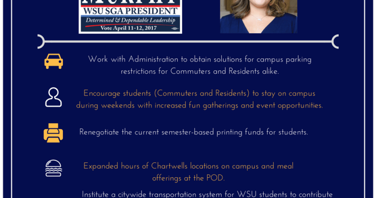 5 Point Plan Spearheaded as WSU SGA President