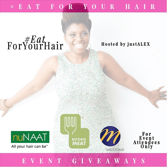Eat for Your hair event sponsorship