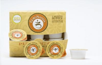 Oil Pulling by GuruNanda - 30 Tubs -Authentic Ayurvedic Formulation -Organic and Natural