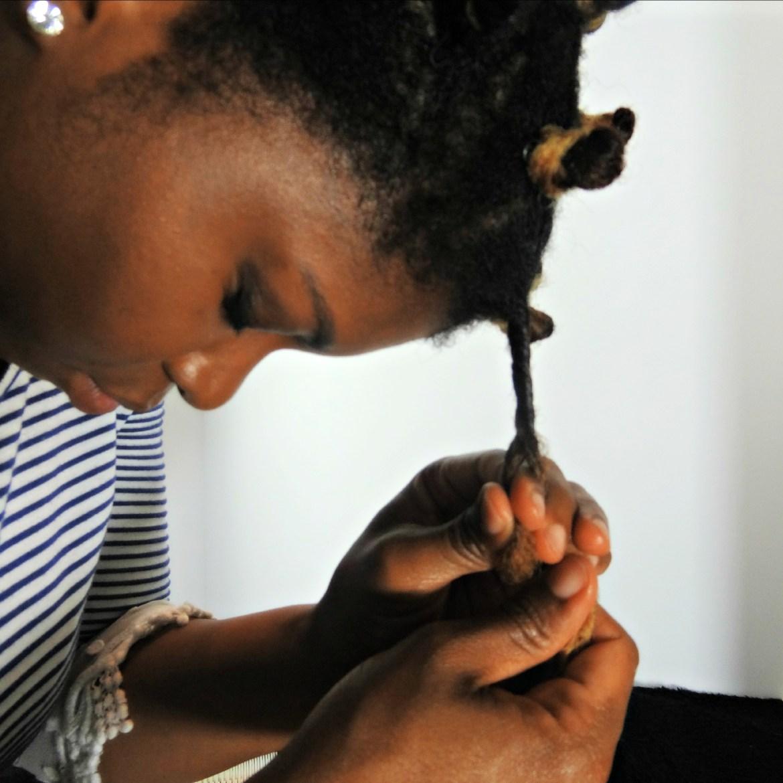 Curls Bantu Knot on 4c Hair 4