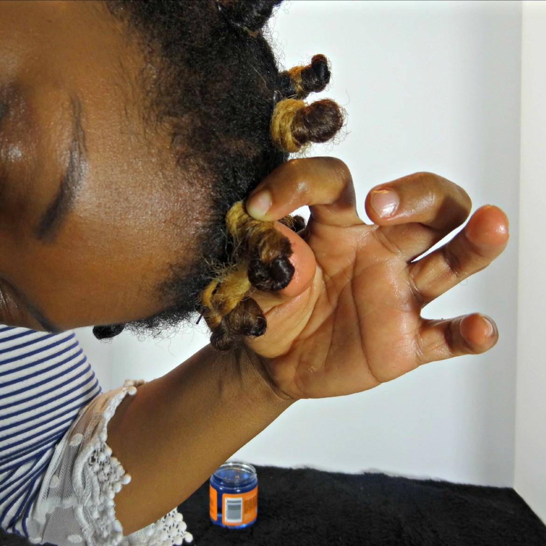 Curls Bantu Knot on 4c Hair 6