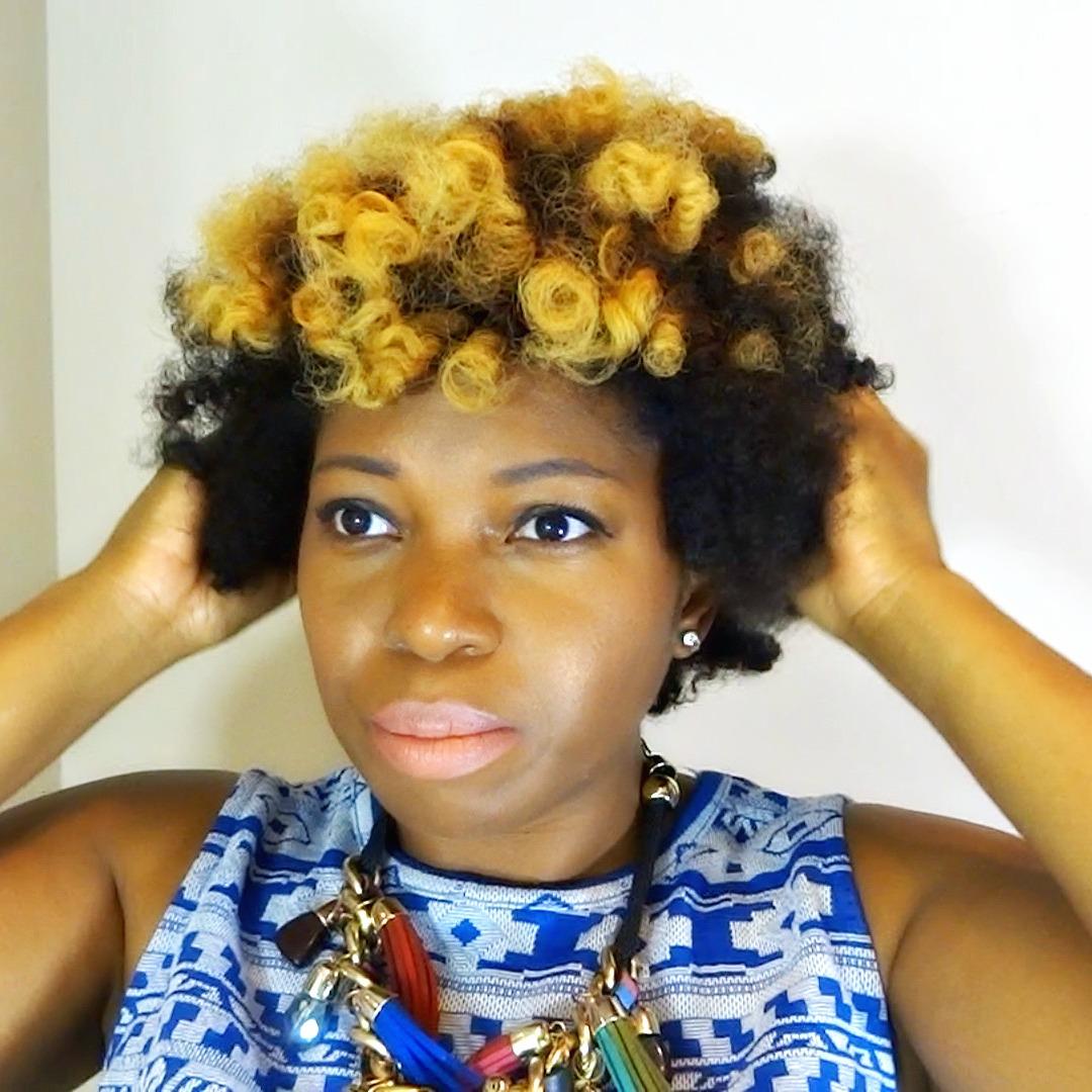 Curls Bantu Knot on 4c Hair 9