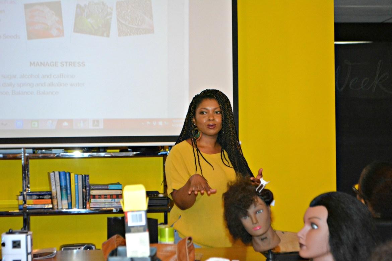 Alex The fithair speaker presenting