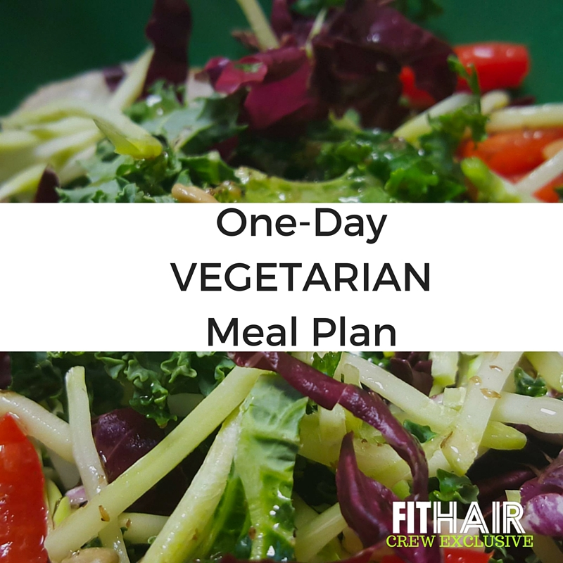 one day vegetarian meal plan fithair just alex pic