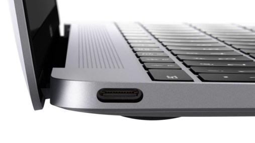 The USB-C port on the new MacBook