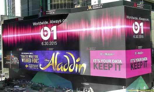 Beats 1 billboard