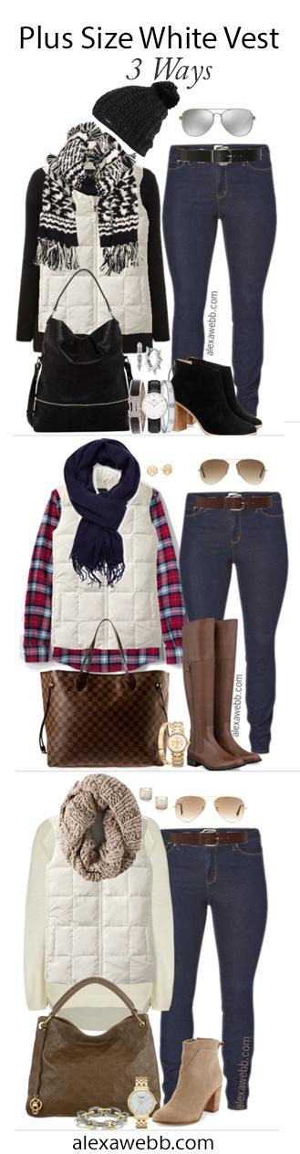 Alexa Webb Plus Size Vest Outfit Ideas - alexawebb.com