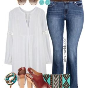 Plus Size Boho Outfit - Plus Size Fashion for Women - Alexa Webb - alexawebb.com