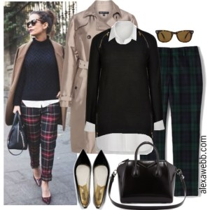 Plus Size Plaid Pants Outfit - Plus Size Fashion for Women - Alexa Webb - alexawebb.com