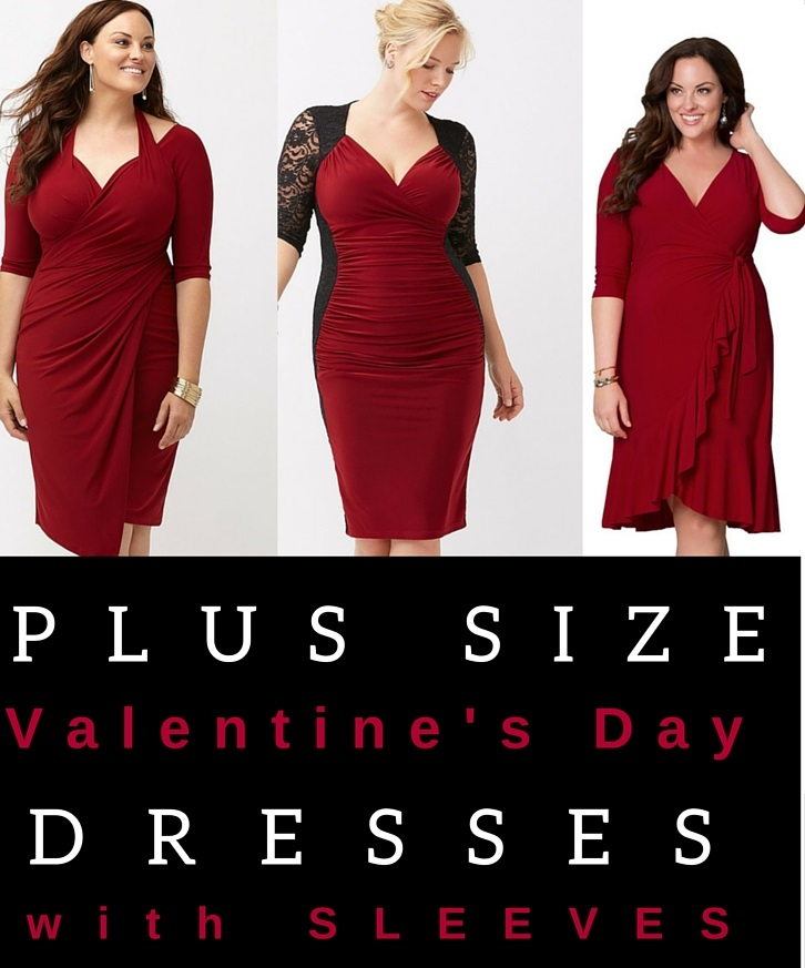 Plus Size Red Dresses for Valentine\'s Day with Sleeves - Alexa Webb