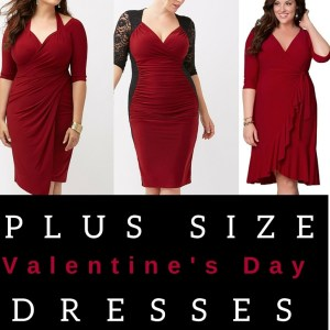Plus Size Red Dresses with Sleeves - Plus Size Valentine's Day Date Dresses - alexawebb.com #alexawebb