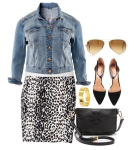 Plus Size Leopard Skirt - Plus Size Fashion for Women - Plus Size Outfit #alexawebb #plus #size