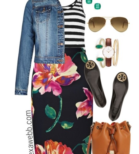 Plus Size Outfit Ideas - Plus Size Stripes and Skirts - Plus Size Fashion for Women - alexawebb.com #alexawebb #plus #size