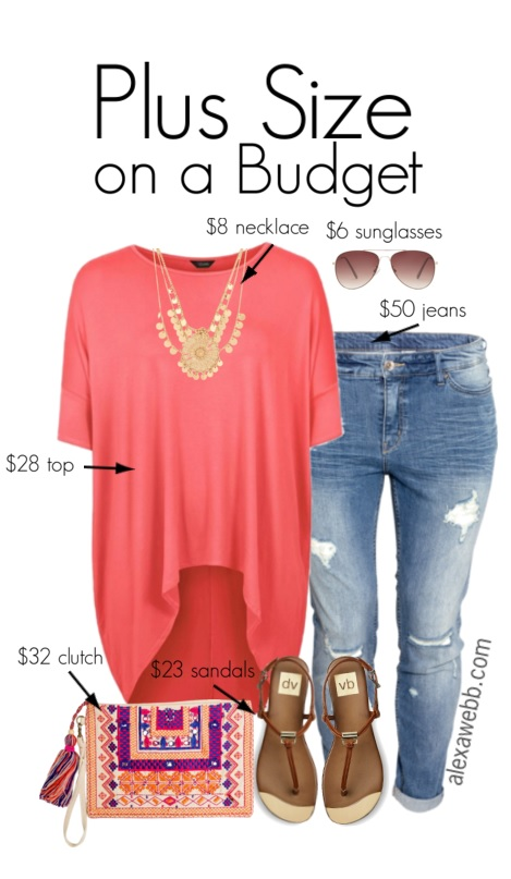 Plus Size Budget Outfit Idea - Plus Size Jeans - Plus Size Fashion for Women - alexawebb.com #alexawebb