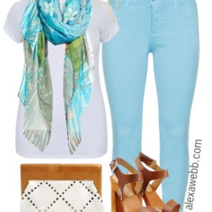 Plus Size Outfit Idea - Plus Size Pastel Jeans - Plus Size Fashion for Women - alexawebb.com #alexawebb
