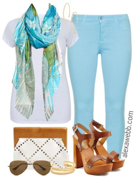 Plus Size Outfit Idea - Plus Size Pastel Jeans - Plus Size Fashion for Women - alexawebb.com #alexawebb