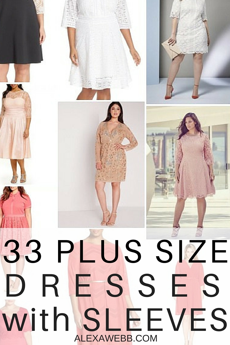 33 Plus Size Wedding Guest Dresses {with Sleeves}!