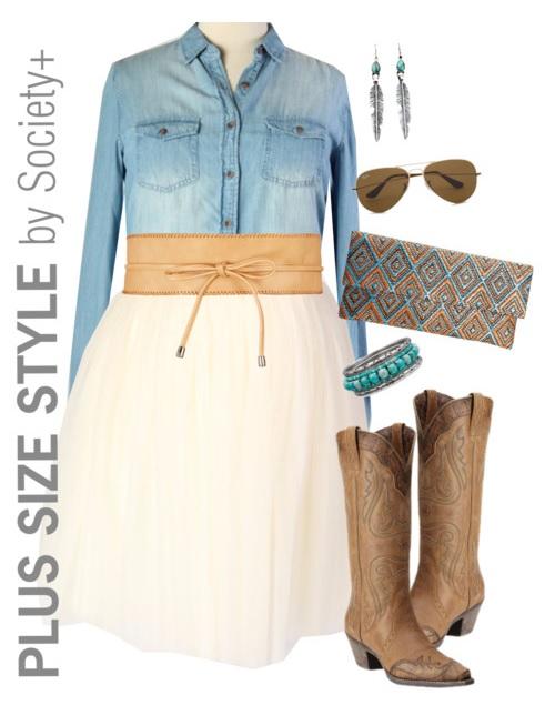 846fafbddd1 Plus Size Outfit Idea - Alexa Webb for Society+ - Plus Size Fashion for  Women -