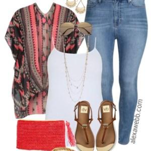 Plus Size Kimono & Jeans - Plus Size Outfit Idea - alexawebb.com