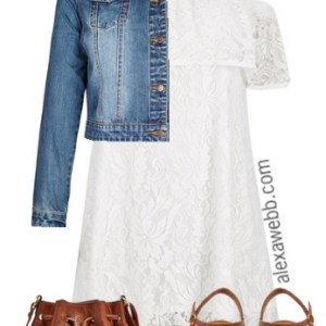 Plus Size Lace Boho Dress - Plus Size Outfit Idea - Plus Size Fashion for Women - Alexawebb.com #alexawebb