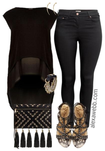 29f570f2b54 Plus Size Black   Gold Outfit - Plus Size Outfit Idea - Plus Size Fashion -
