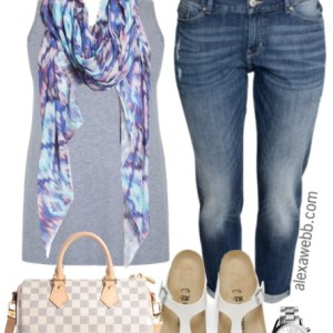 Plus Size Summer Casual Outfit - Plus Size Fashion - alexawebb.com #alexawebb