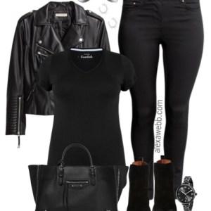 Plus Size Biker Jacket Outfit - Plus Size Fashion for Women - alexawebb.com #alexawebb