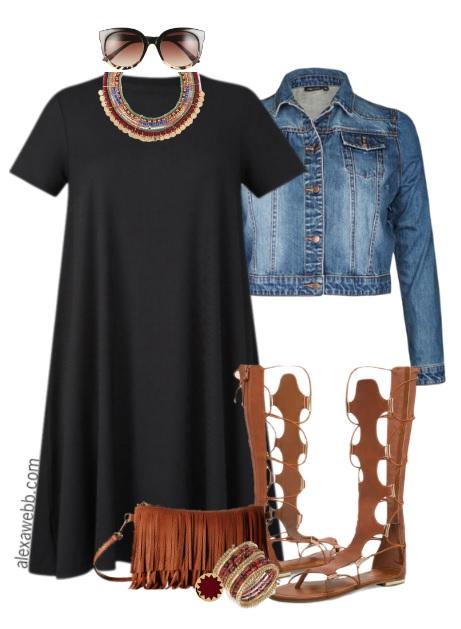 1a46e019ea372 Plus Size Boho Dress Outfit Idea - Plus Size Fashion for Women - alexawebb .com