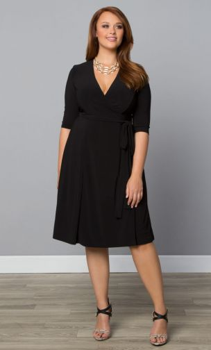 18 Plus Size Black Dresses {with Sleeves} - Alexa Webb