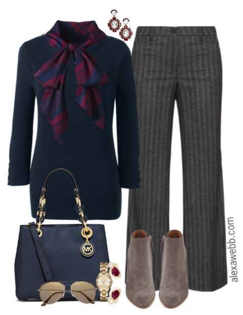 7f39fa145490e Plus Size Bow Blouse Work Outfit - Plus Size Fashion for Women - alexawebb