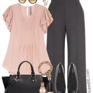Plus Size Rose Gold Work Outfit - Plus Size Fashion for Women - alexawebb.com #alexawebb