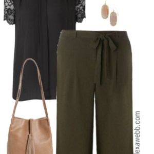 Plus Size Work Outfit - Plus Size Culottes - Plus Size Fashion - alexawebb.com
