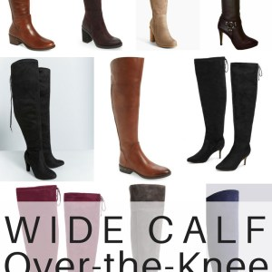 24 Pairs of Wide Calf Over-the-Knee Boots - alexawebb.com