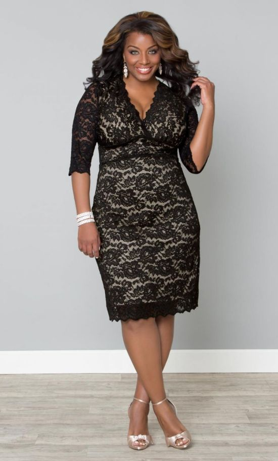 27 plus size wedding guest dresses with sleeves alexa webb for Plus size dress for wedding guest