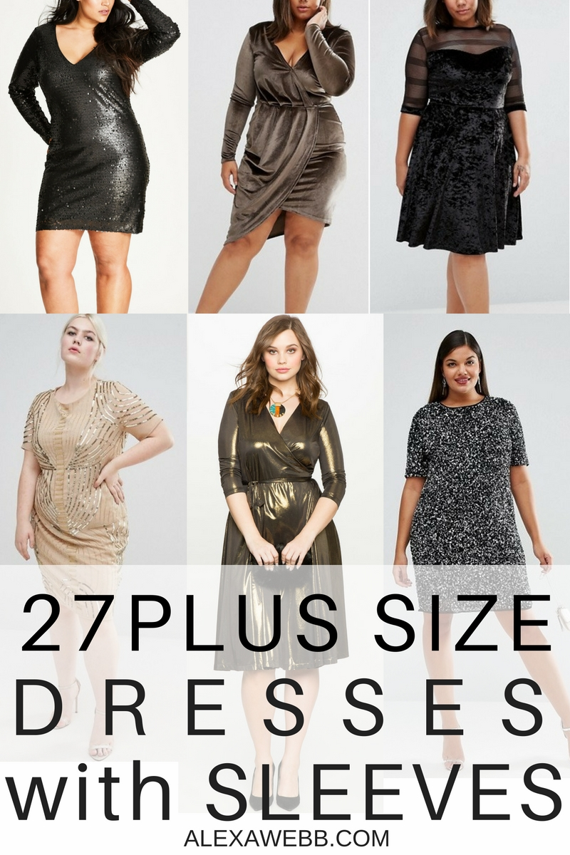 27 Plus Size Party Dresses {with Sleeves}