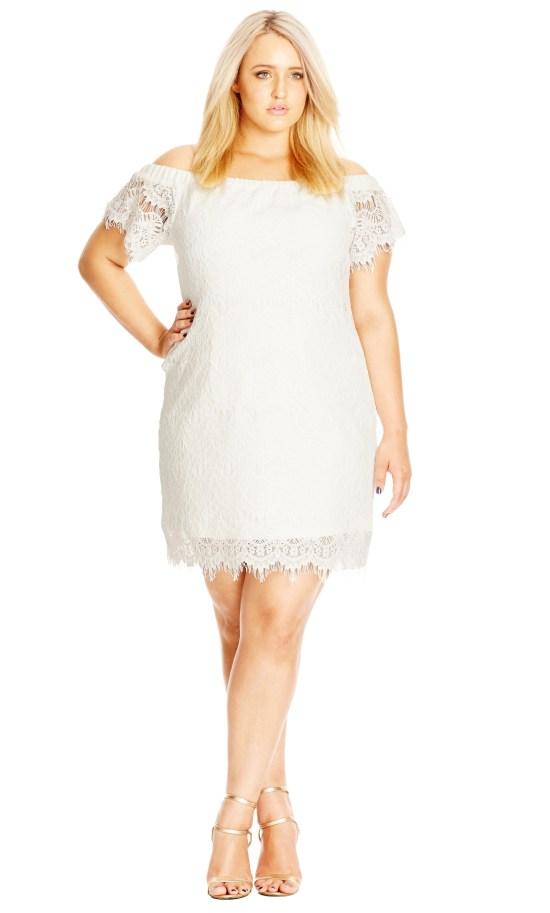 12 Plus Size White Party Dresses - Alexa Webb