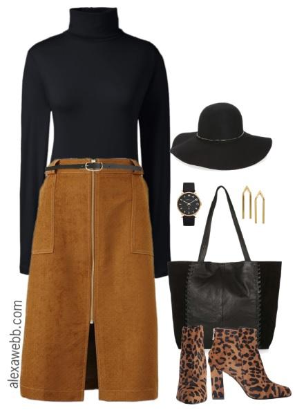 Plus Size Black & Tan Outfit - Plus Size Work Outfit - Plus Size Fashion for Women - alexawebb.com #alexawebb