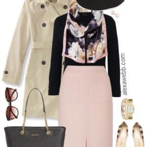 Plus Size Blush Pencil Skirt Outfit - Plus Size Work Outfit - Plus Size Fashion for Women - alexawebb.com #alexawebb