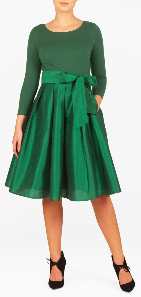 12 plus size holiday green dresses with sleeves  alexa webb
