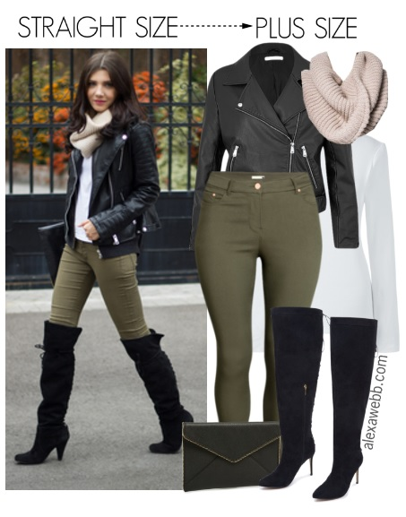 Straight Size To Plus Size Over The Knee Boots Outfit